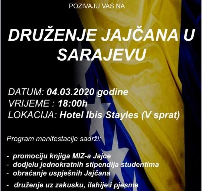Druženje studenata i uspješnih Jajčana u Sarajevu povodom Dana nezavisnosti