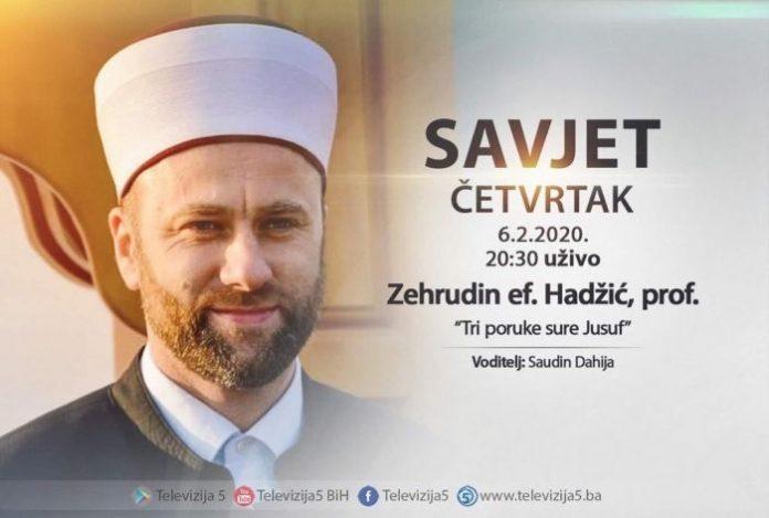 Glavni imam Hadžić gostuje na Televiziji 5 BiH